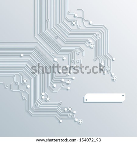 3d circuit board background texture - vector - stock vector