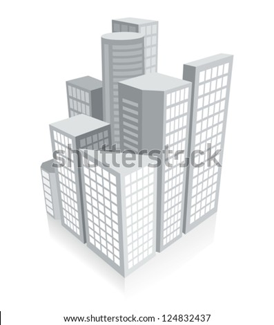 3d city concept - stock vector