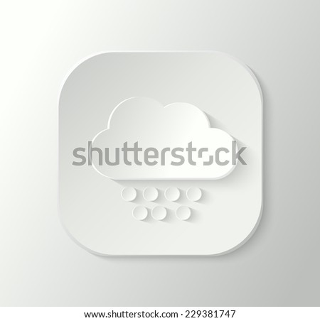 3d cloud with snowflakes icon, weather icon - stock vector
