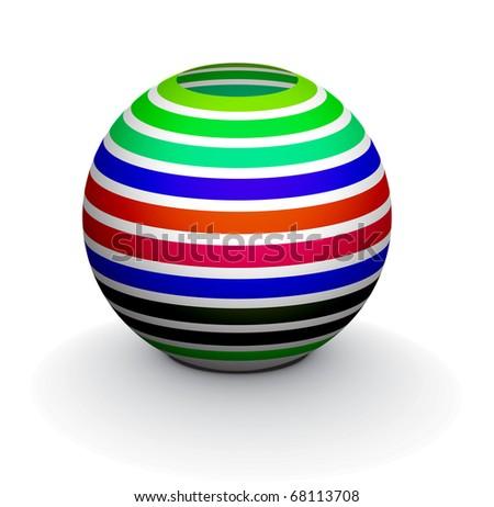 3D colorful sphere design, vector illustration. - stock vector