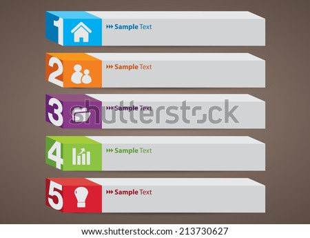 3D creative design modern template for website and graphic,arrow text box. - stock vector