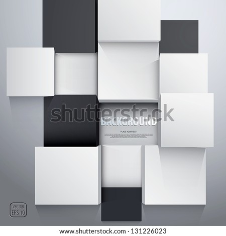 3D cubes background - design template. Vector - stock vector