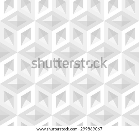 3d cubes pattern - stock vector
