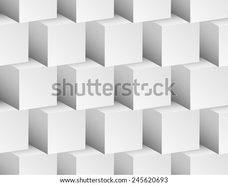 "3d ""Cubes"" seamless, repeatable pattern/background - stock vector"
