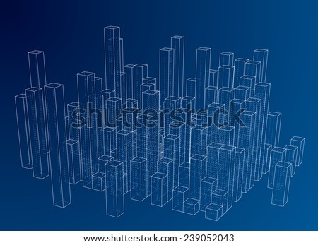 3D cubes vector background. - stock vector