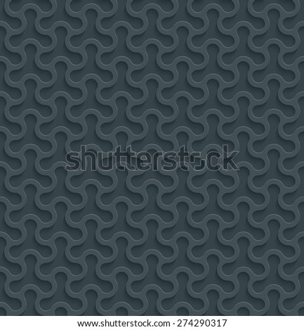 3D Dark gray seamless wallpaper with cut out effect. See others in a Perforated Paper Set. Vector EPS10. - stock vector