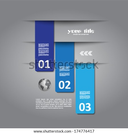 3d design of cards in cut out background - stock vector