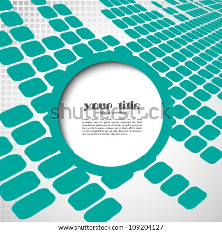 3d design with circle text box on abstract background - stock vector