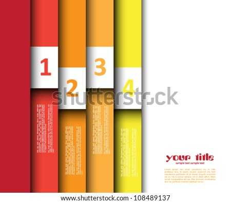 3d design with color banners / website template - stock vector