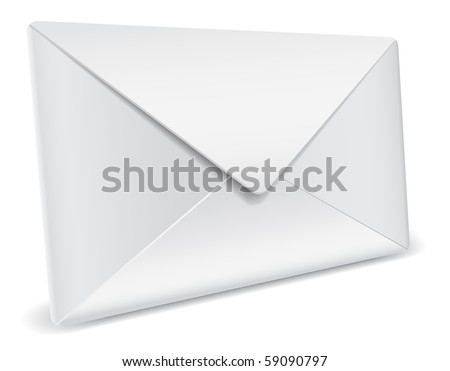 3d detailed envelope - stock vector