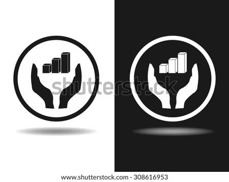 3D diagram icon, vector illustration. Flat design style - stock vector