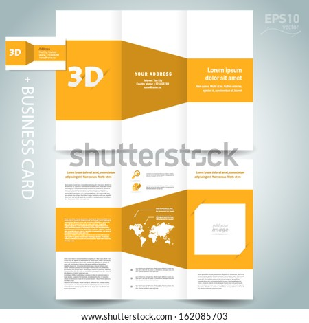 Tri fold stock photos images pictures shutterstock for 3d brochure template