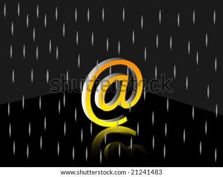 3d email sign - stock vector