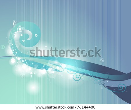 3D feel blue background- ocean concept background in EPS10 - fresh and new best for presentation kit - stock vector