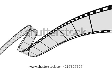 3d Film Strip. White background.  - stock vector