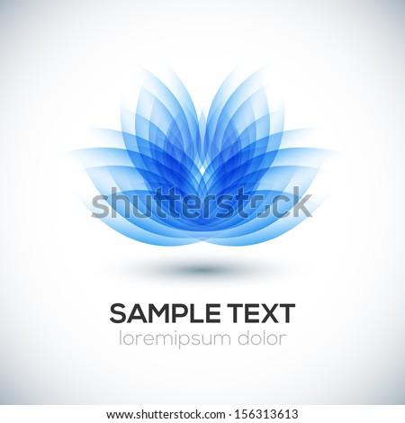 3D flower shape. Lotus. Vector - stock vector