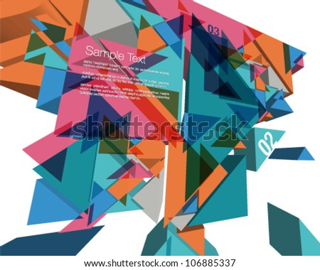 3D Geometric Colorful Design - stock vector