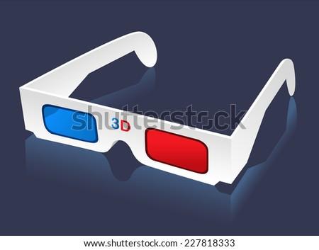 3D glasses eye-wear vector illustration. - stock vector