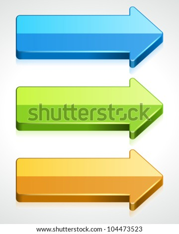 3d graph arrows vector design elements eps 10. - stock vector