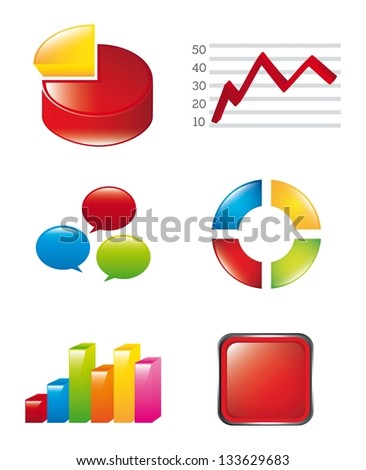 3d graphic over white background. vector illustration - stock vector