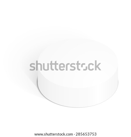 3d isolated empty white podium on a white background. Vector illustration. - stock vector