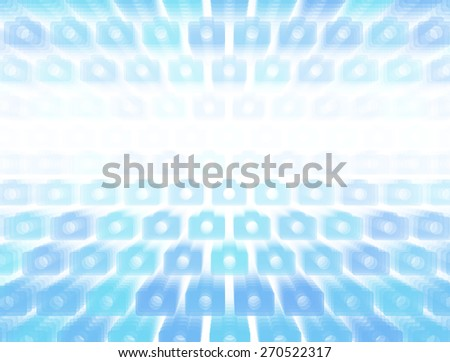 3d layered vector background with camera icon template. Abstract transparent background with perspective for poster, banner, web. - stock vector