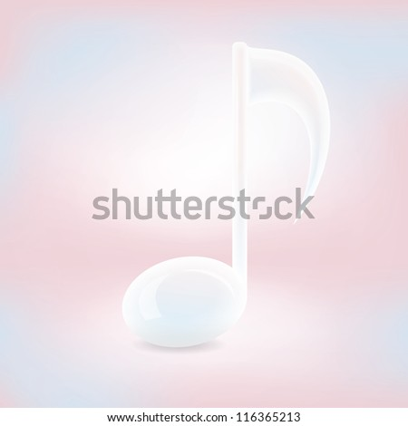 3D Light Vector Music Note - stock vector