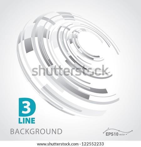 3d line background vector - stock vector