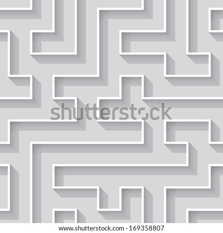 3d line pattern (repeatable) - stock vector