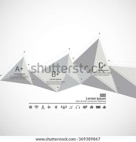 3D Low Polygon Geometry Background - stock vector