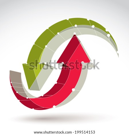 3d mesh stylish web update sign isolated on white background, colorful repeat icon, dimensional tech refresh symbol with white connected lines, bright clear eps 8 vector illustration. - stock vector