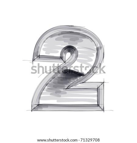 3d metal figure sketch - 2. Eps10 - stock vector