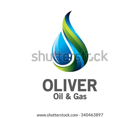 3D oil and gas logo design. Colorful  3D oil and gas logo vector template. oil and gas concept with 3D style design vector. - stock vector