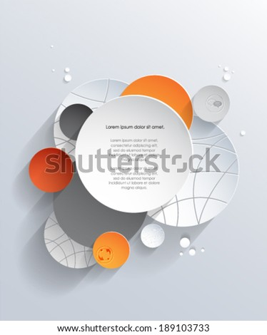 3d paper circles with shadows background. Vector eps10. Basketball design.  - stock vector