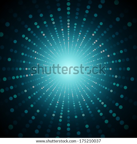 3D Perspective Abstract Futuristic Circles Vector Background | EPS10 Illustration Design - stock vector
