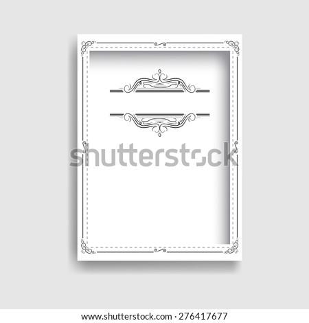 3D Photo Border Frame. Contemporary Frame . Retro Black and White Frame . Vintage Swirl Border Frame Collection . Vector Frame for your Design . - stock vector