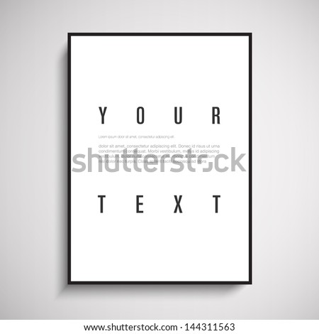 3D picture frame design for A4 / A3 image or text Eps 10 vector illustration - stock vector
