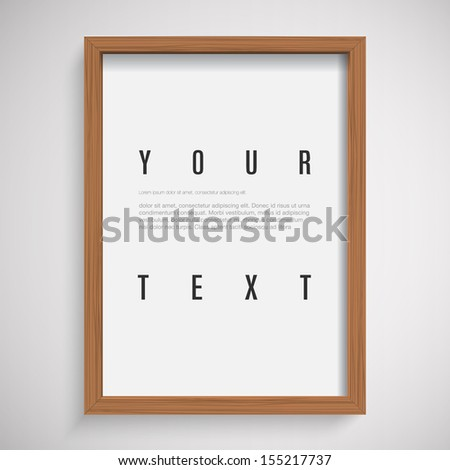 3D picture frame design for A4 image or text Eps 10 vector illustration - stock vector
