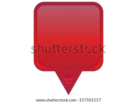 3D Pointer - vector  - stock vector