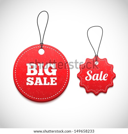 3D Price tags - stock vector