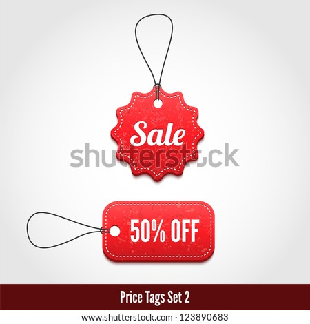 3D Price tags set 2. - stock vector