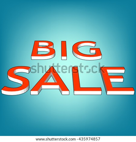 3d red text SALE. Vector illustration eps10 - stock vector