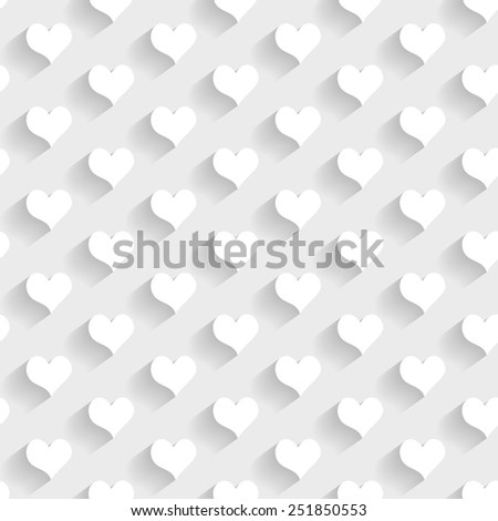 3d seamless pattern with hearts - stock vector