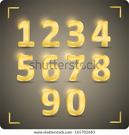 3d set of  vector numbers, from 1 to 0. Eps 10. - stock vector