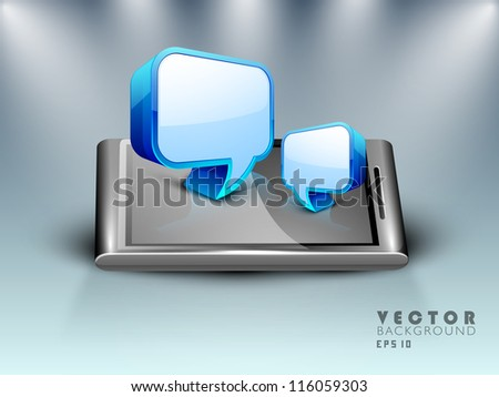 3D speech bubble or dialog box set. EPS 10. - stock vector