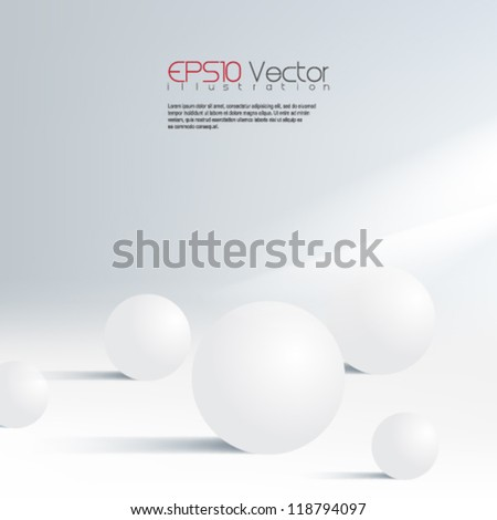 3d spheres isolated on white background illustration. eps10 vector format - stock vector