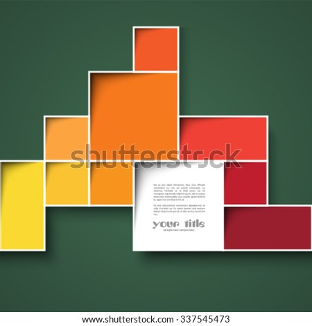 3d square background - stock vector