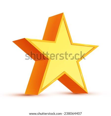 3D star. Vector illustration. - stock vector