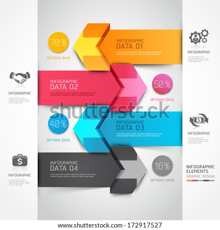 3d step arrow staircase diagram business. Vector illustration. can be used for workflow layout, banner, number options, step up options, web design, infographics. - stock vector