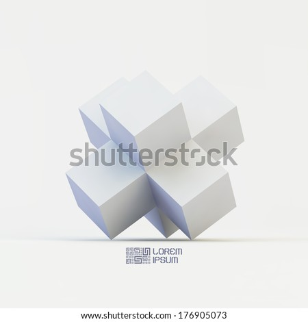 3d structure vector illustration.  - stock vector
